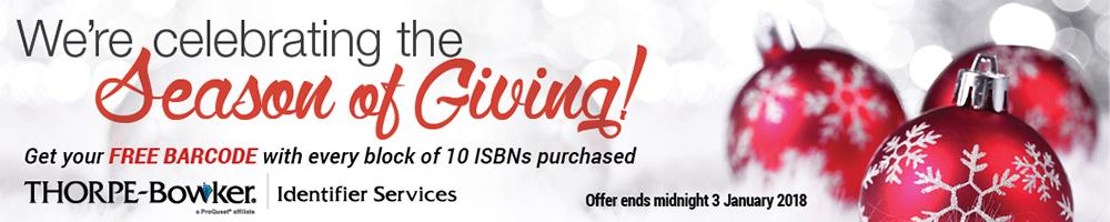 Buy 10 ISBNs get one barcode